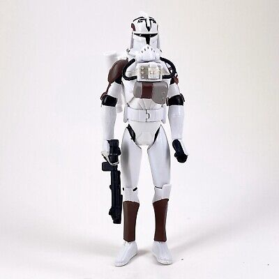 2008 STAR WARS THE CLONE WARS COLLECTION CLONE TROOPER W/ SPACE GEAR WOLF PACK