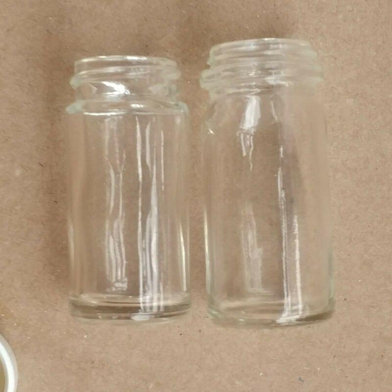 Clear-Glas glass bottle slide NOS 1950s like Coricidin Duane Allman type