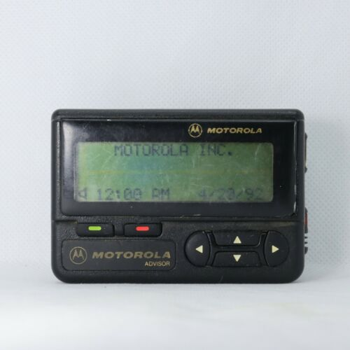 Vintage Motorola Advisor Beeper Pager TESTED Work Great