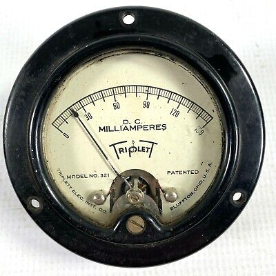 1934 Triplett Electric Co. Vintage Volt Meter D.c. Milliamperes - Model No. 321