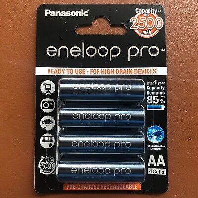 4 Panasonic Eneloop pro Aa 2500 Baterias Recargables Mah Listas Nimh BK-3HCDE, usado comprar usado  Enviando para Brazil