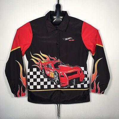 HOT WHEELS Speed Machines Windbreaker Coaches Jacket BLACK (Coaches Hot Jacket)