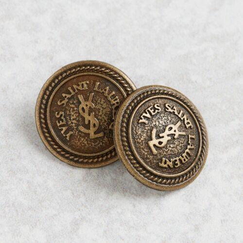 YSL Yves Saint Laurent Bronze 2 Button 22 mm AUTH RARE!!!