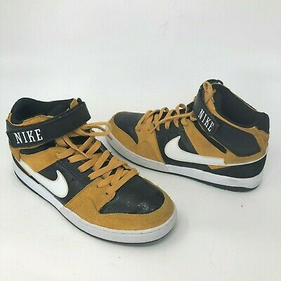 028624a227 2013 Nike Zoom Air Mogan Mid 2 Laser Orange Black Skate Size 8 Shoes  407360-810