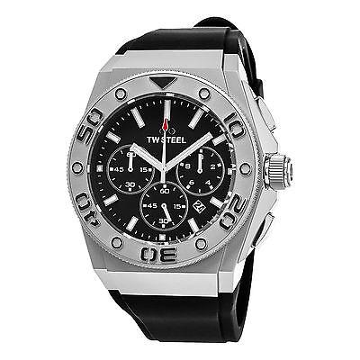 TW Steel Men's CEO Diver Black Rubber Strap Chronograph Quartz Watch CE5008