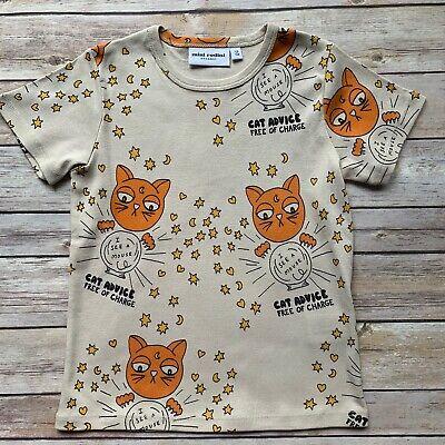 Mini Rodini Cat Advice T-Shirt, 116-122 Cm