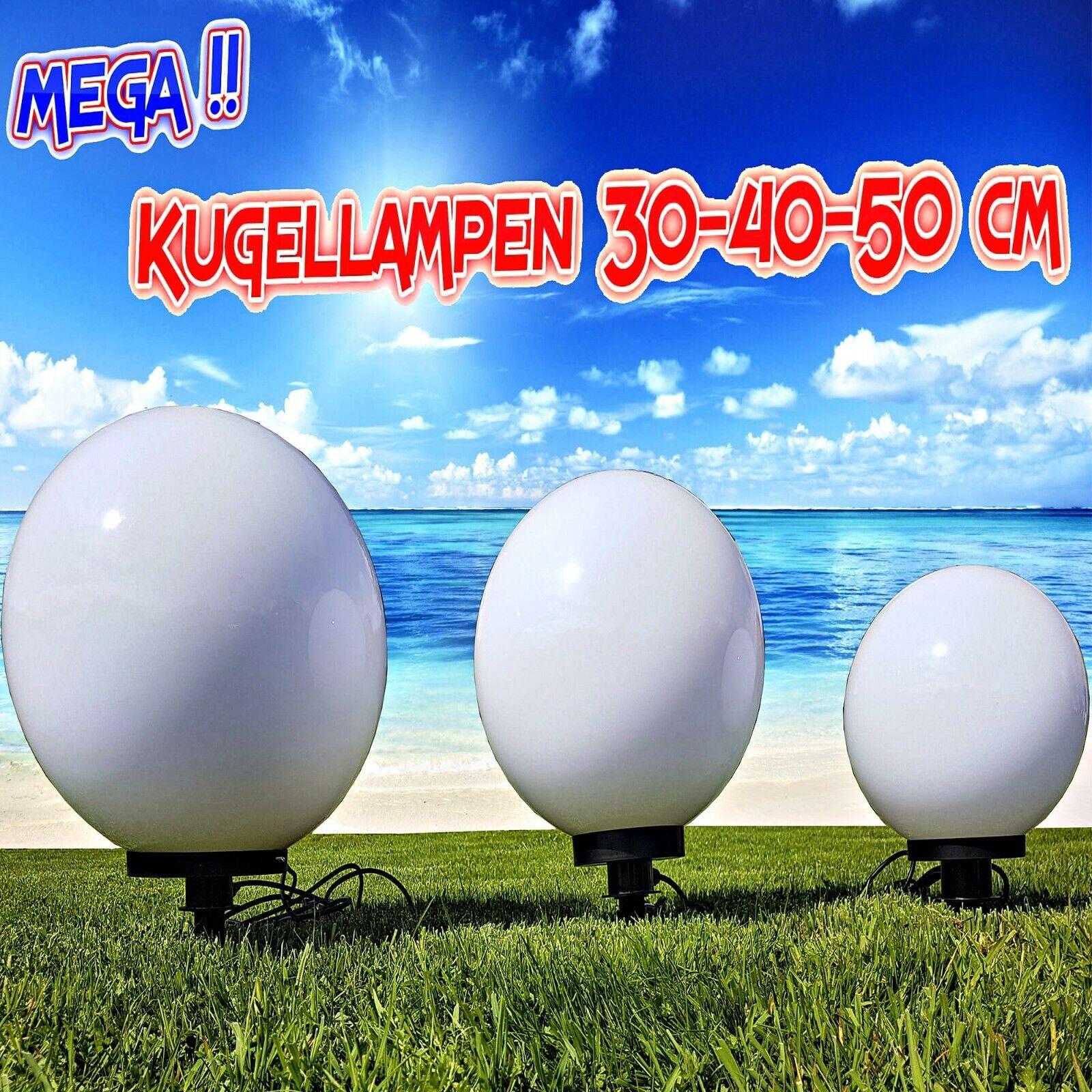 Kugelleuchte Lichtkugel Kugellampe Gartenleuchte Gartenlampe Set 30//40//50cm