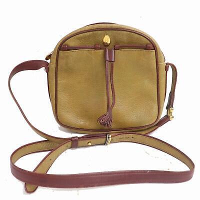 Authentic Cartier Shoulder Bag  Light Brown Leather 1111972