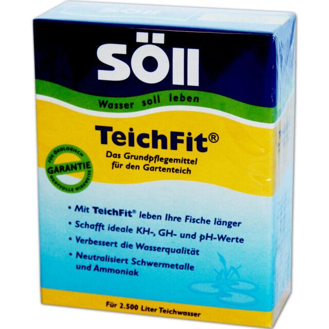 SÖLL TeichFit 250g - Teich Fit Gartenteich Wasserqualität KH GH pH Teichpflege