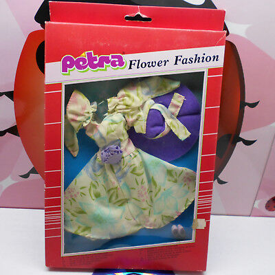 PETRA Doll Clothes Outfit Flower Fashion Plasty Lundby 80s Vintage Rare MIB (A)