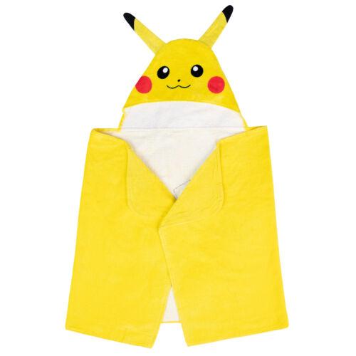 Pokemon Kids Bath and Beach Hooded Towel Wrap 24 in x 50 in NEW Pikachu