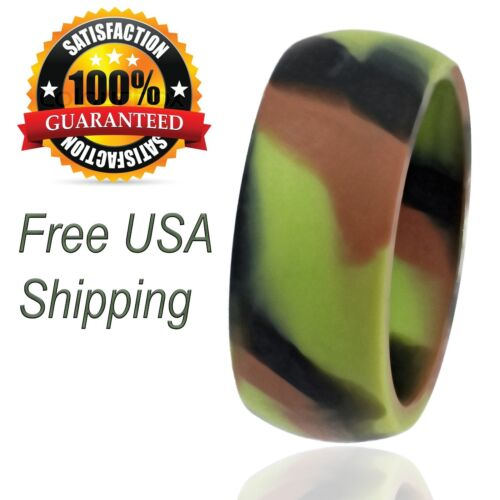 Silicone Wedding Ring For Men Camo Rubber Band By Livelife (single Pack)