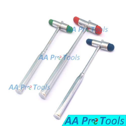 AA Pro:Set Of 3 Buck Hammer Mix Color Neurological Diagnostic/Examination Reflex