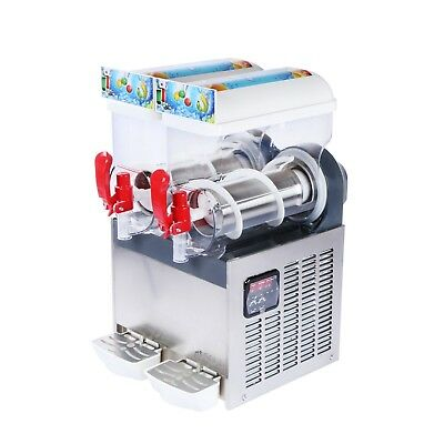 U.s. Solid Slush Machine 2 Tanks 30l Frozen Margarita Drink Machine Us Shipping