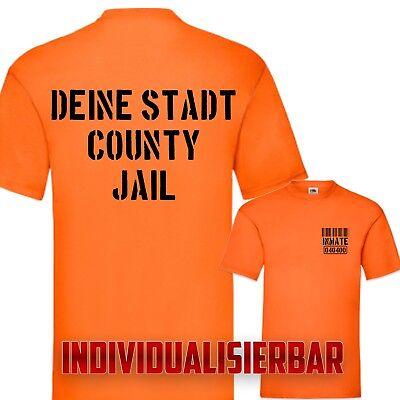 Kostüm Karneval Fasching Deine Stadt County Jail T-Shirt Fun Prison Individuell - Kostüm Stadt