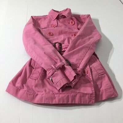 Abercrombie And Fitch Cotton Blend Jacket Womens Size Medium Heavy Pink Coat VTG