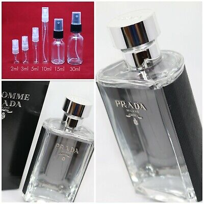 Prada L'Homme EDT 100% Authentic SAMPLE 2ml 3ml 5ml 10ml 15ml 30ml