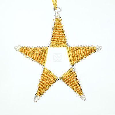 Africa Handmade Maasai Bead Wire Christmas Star Ornament ()