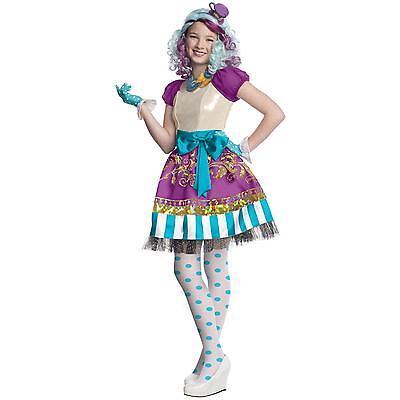 Ever After High MADELINE HATTER Halloween Costume for Kids SZ LARGE 8-10 NEW