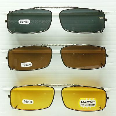 Clip on spring sunglasses men women fish drive metal frame blocking 100% uv (Sunglasses Clip Ons)