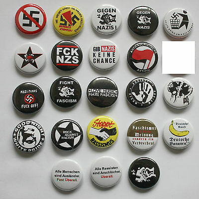 Antifa Buttons / Button / Badge Pin Punk Punkrock Oi Sharp GROSSE AUSWAHL