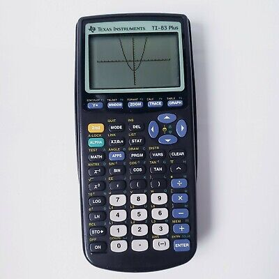 Texas Instruments Ti-83 Plus Scientific Graphing Calculator - Black - TESTED
