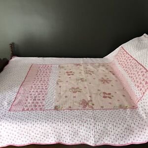 Girls Twin Bedcover/Bedspread  and Matching Pillowcase