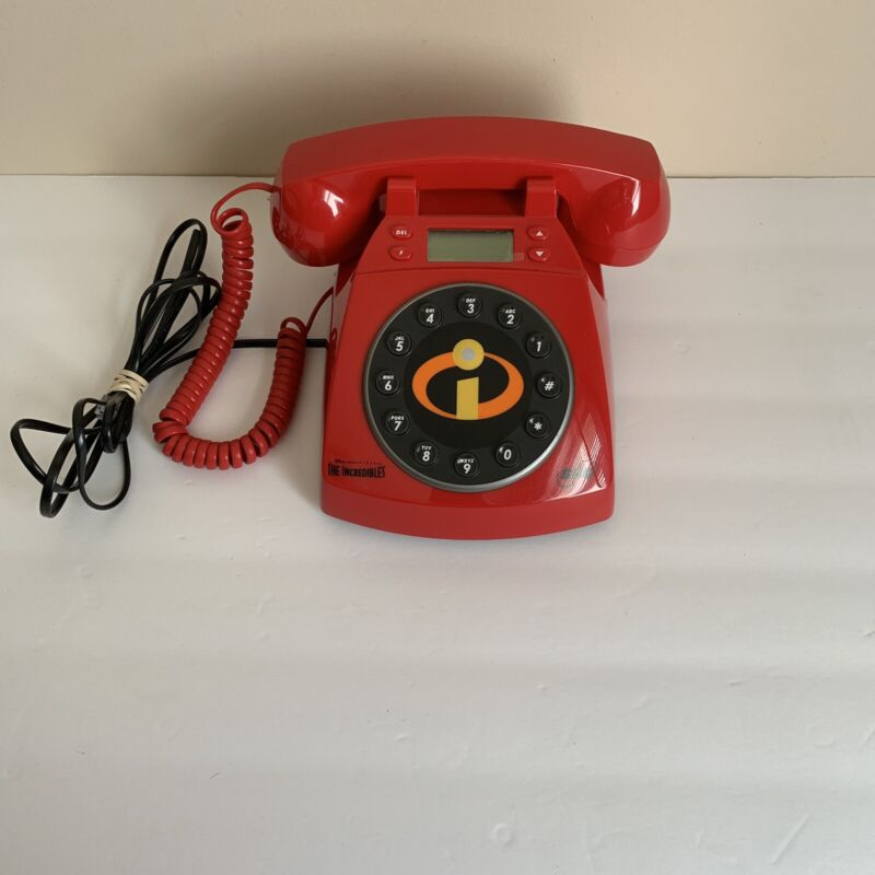 Disney Pixar The Incredibles Collectors Red Untested Phone, Missing 9v Adapter