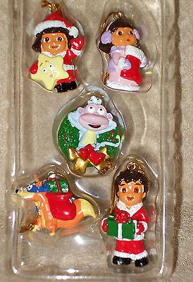 5 ADLER Resin DORA THE EXPLORER CHRISTMAS THEME Ornaments -