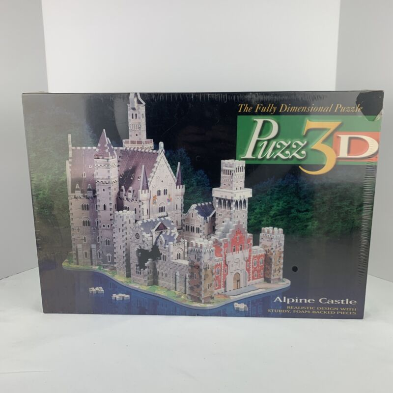 Milton Bradley Puzz 3D Wrebbit Alpine Castle 1000 Pieces Puzzle NEW
