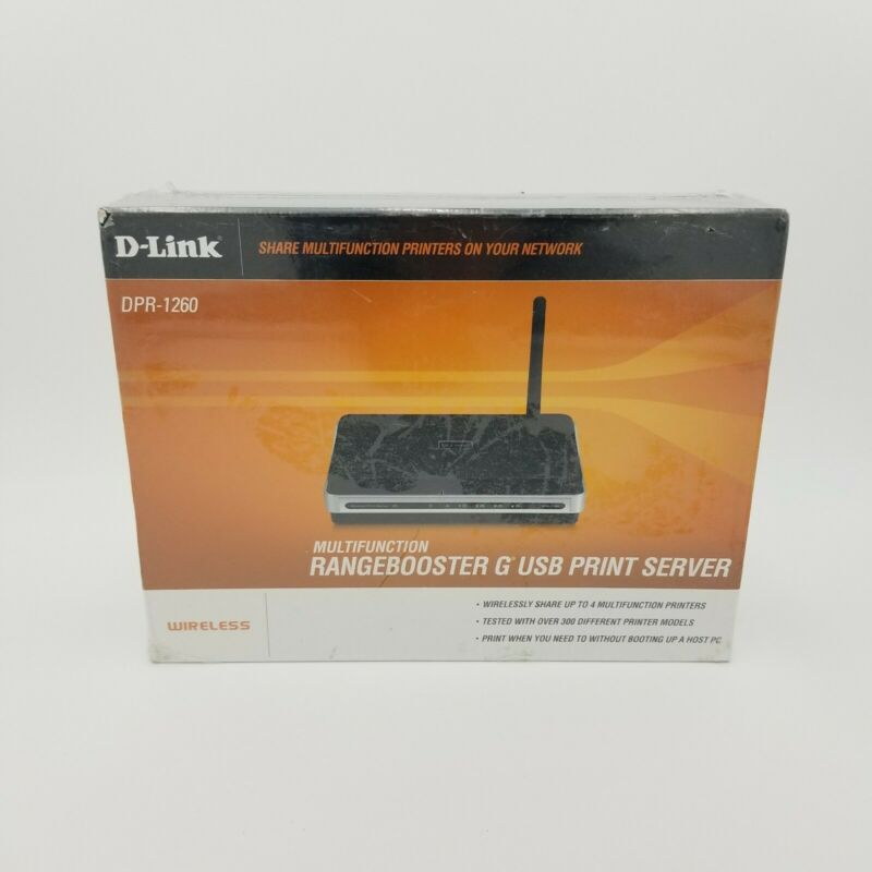 Geek Squad D-Link DPR-1260 Multifunction Rangebooster G USB Print Server New