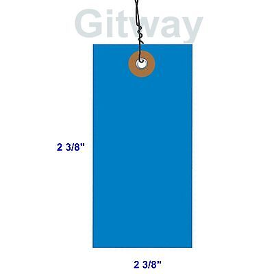 Blue 100 Pack 4 34 X 2 38 Size 5 Tyvek Inventory Olefin Tag Tags With Wire