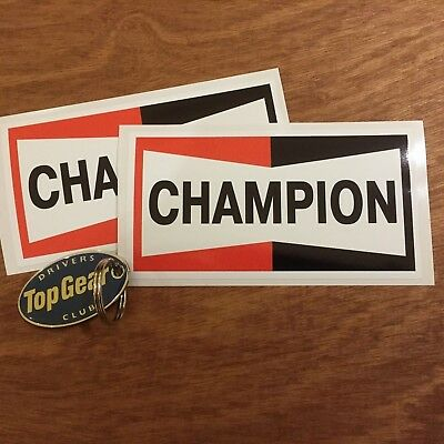 CHAMPION Classic Retro Vintage Old Style Car Stickers Decals 87mm