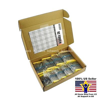 135value 1350pcs 14w Metal Film Resistor Assortment Box Kit Us Seller Kitb0027