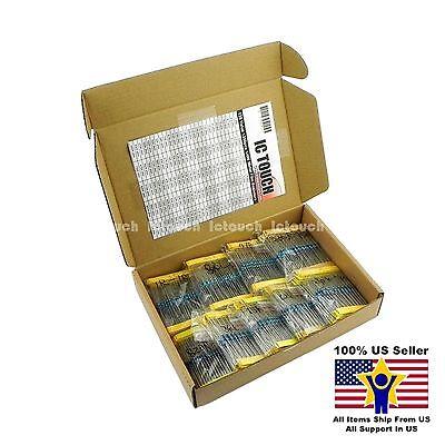 135value 1350pcs 14w Metal Film Resistor Assortment Box Kit Us Seller Kitb0027