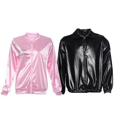 Mottoparty Outfit Pink Ladies Danny Jacket Damen Herren Fancy Dress - Herr Herren Fancy Dress Kostüm