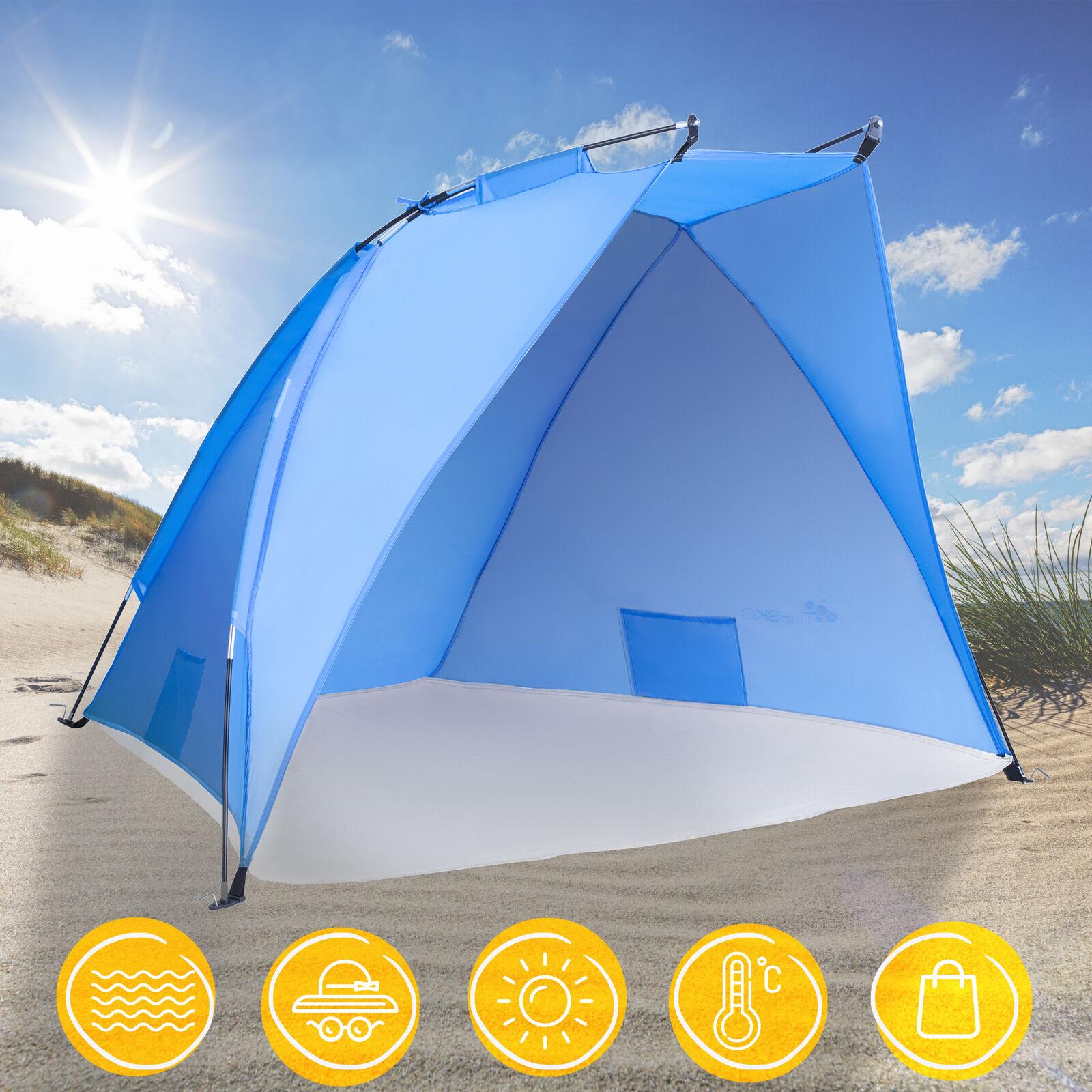 Strandmuschel Pop Up Strandzelt Sonnenschutz Windschutz Zelt Sichtschutz XXL