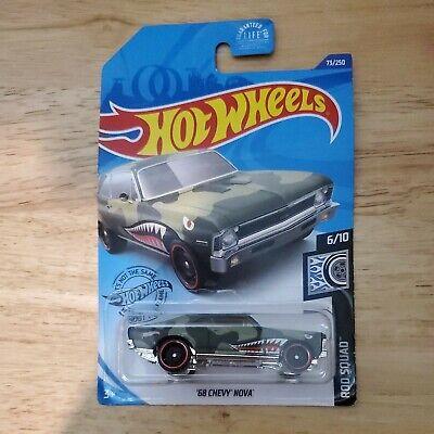 2020 Hot Wheels - Rod Squad - '68 Chevy Nova - Green Camo - #6/10 - #73/250