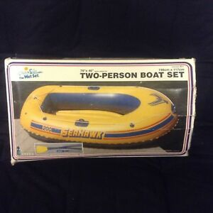 2 person inflatable boat with paddles