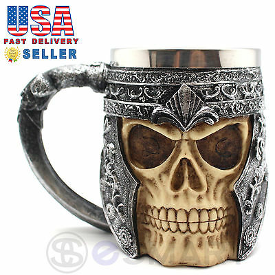 Skeleton Skull 3D Skeleton Tankard Mug Cup Coffee Beer Pirate Gothic Halloween - Halloween Coffee Cups