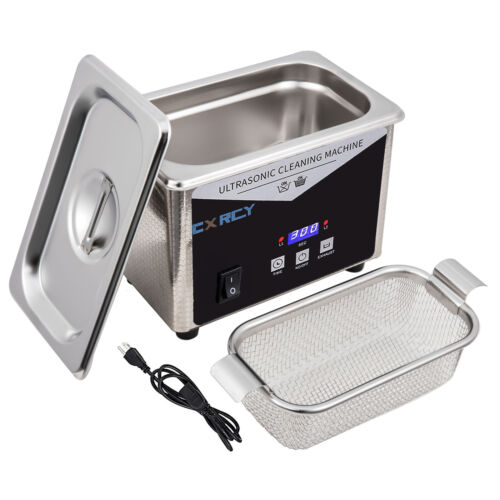 0.8L Commercial Ultrasonic Cleaner Industry w/Timer Jewelry Ring Parts Glasses