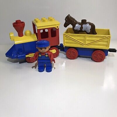 Vintage 1996 Lego Duplo Push Along Play Train #2731-1 Discontinued