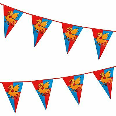 6m Long Medieval Knights and Dragons PE Bunting Banner Birthday Decoration Feast](Banner Medieval)