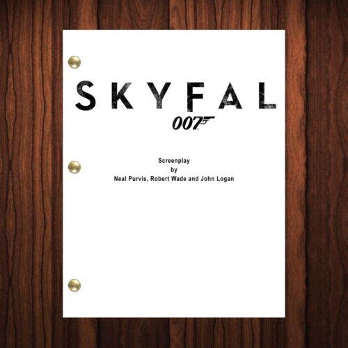 Skyfall James Bond Movie Script Reprint Full Screenplay Full Script