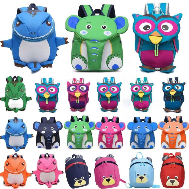 Toddler Kids Boys Girls Cartoon Animals Backpack Child Cute
