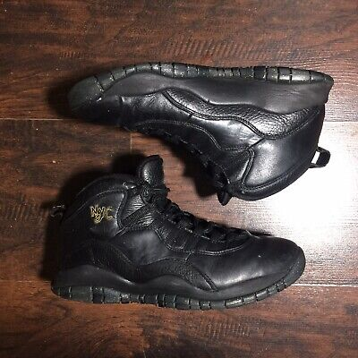 Air Jordan Retro X 10 NYC City Pack Shoes Men Sz 8.5 Black Gold 310805-012