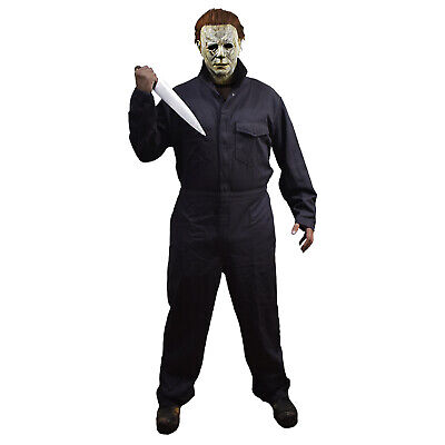 Michael Myers Deluxe Coveralls Halloween 2018 Movie Adult Mens Horror Costume - Michael's Halloween Costumes