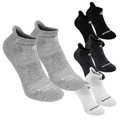 6 Paar Damen Herren Sport Socken Füßlinge Sneaker Baumwolle Schwarz Weiß Grau