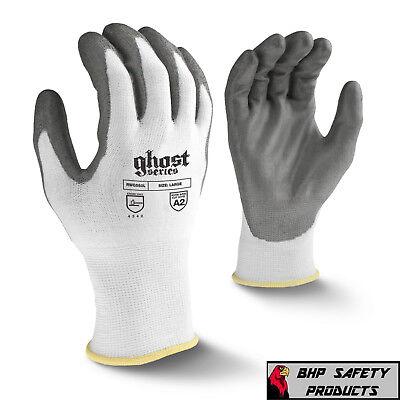 Radians Ghost Cut Resistant Work Gloves Cut Level A2 Pu Palm Rwg550 Sm-2xl