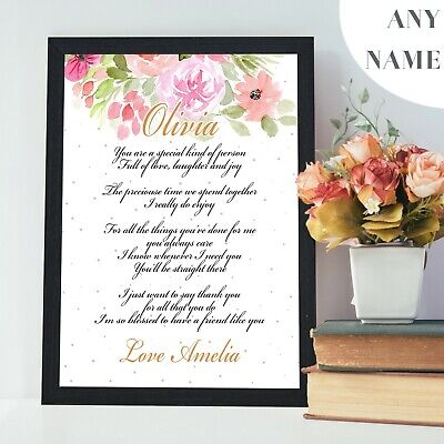 Personalised Gifts for Best Friend Birthday Christmas Xmas Presents for Her